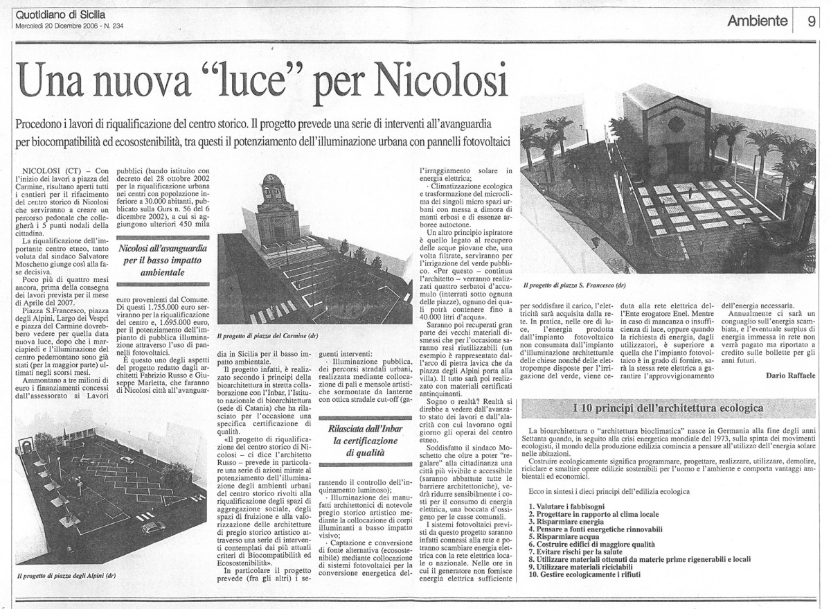 """Una nuova """"luce"""" per Nicolosi"""