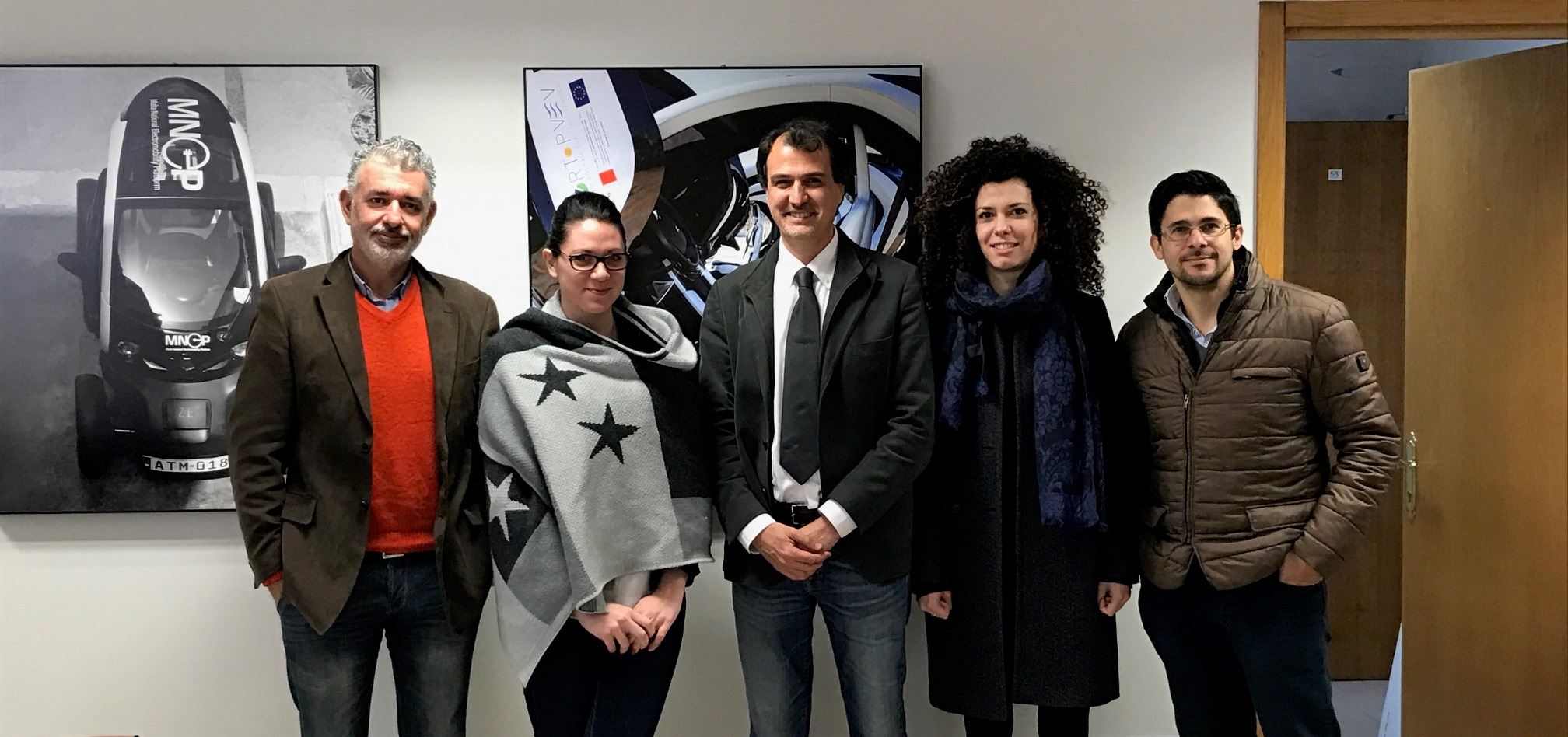 Delivering the first part of SMITHS project | from the left: P.P. Barbara, A. Ellul, F. Russo, G. Schippa, P. Brincat